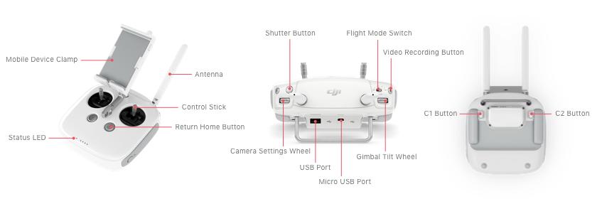 Dji Phantom 4 Controller Parts Diagram